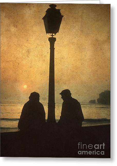 Citizens Photographs Greeting Cards - Couple Greeting Card by Bernard Jaubert