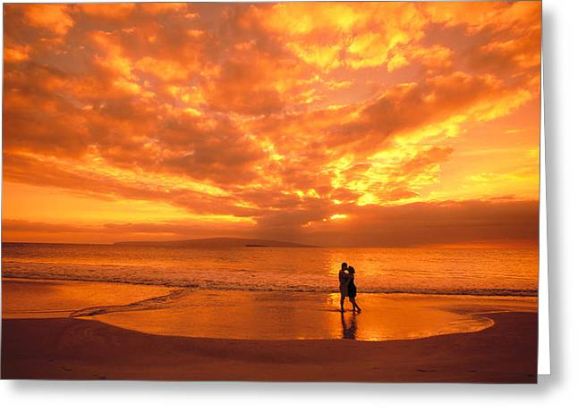 Enjoying Greeting Cards - Couples Vacation Greeting Card by Dave Fleetham - Printscapes
