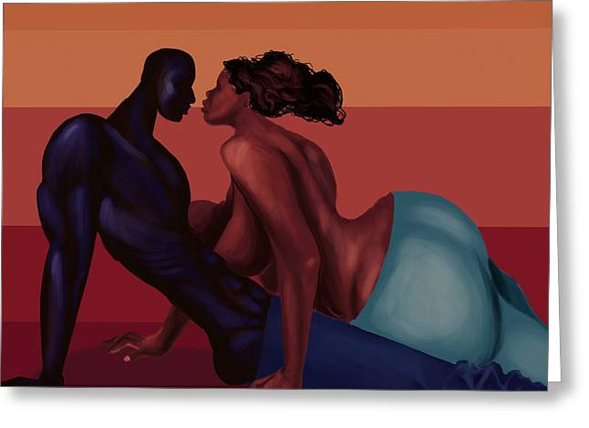 Recently Sold -  - African-american Greeting Cards - Coupls Greeting Card by David James