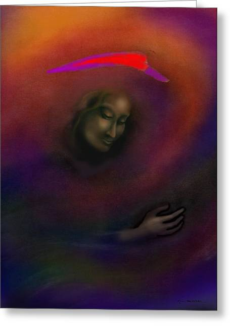 Courage Paintings Greeting Cards - Courage to Create Greeting Card by Kevin Middleton
