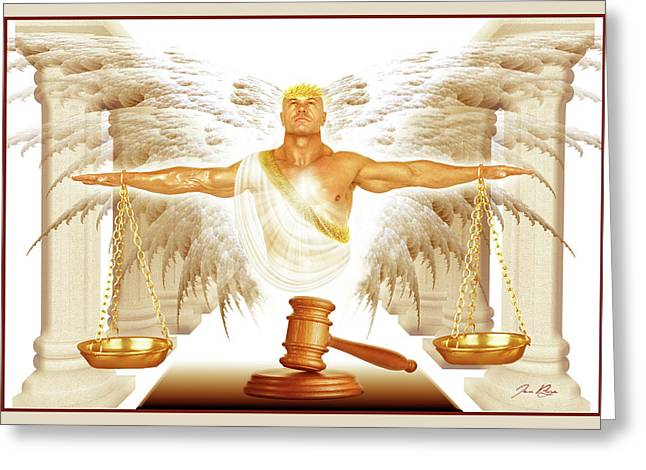 Court Room Of Heaven Greeting Card by Jennifer Page