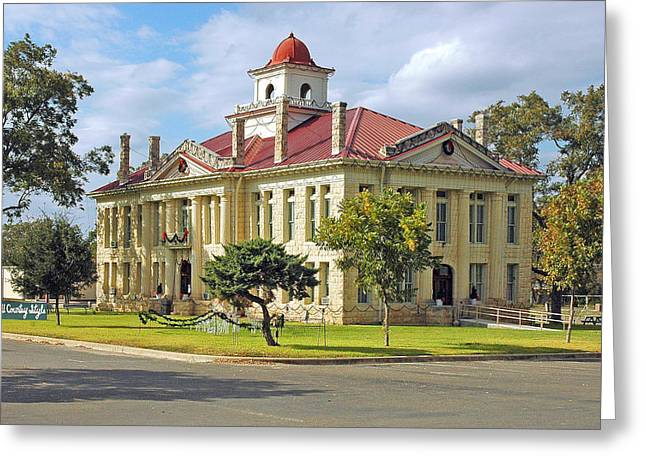 Lyndon Greeting Cards - Courthouse in Johnson City Greeting Card by Robert Anschutz