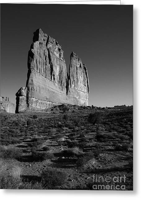 Monolith Greeting Cards - Courthouse Tower Greeting Card by Timothy Johnson