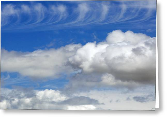 Dream Scape Greeting Cards - Courting Clouds Greeting Card by Gwyn Newcombe