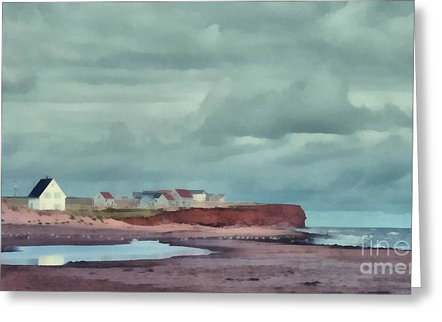 Cousins Shore Prince Edward Island Landscape Greeting Card by Edward Fielding