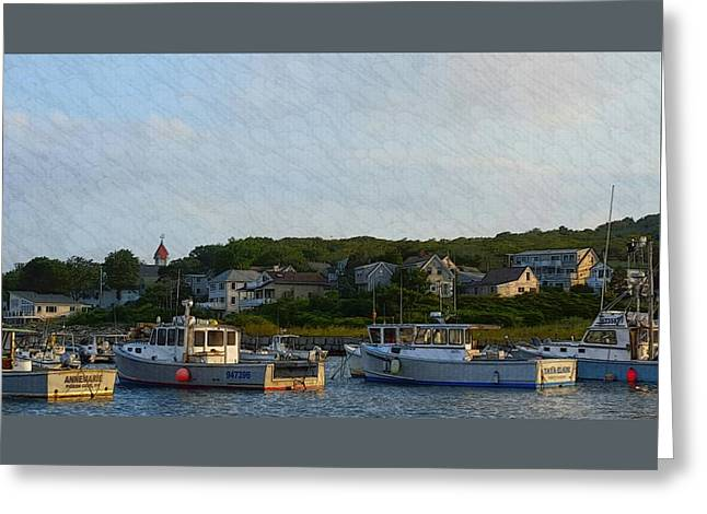 Boats In Water Greeting Cards - Cove Serenity Greeting Card by Harriet Harding