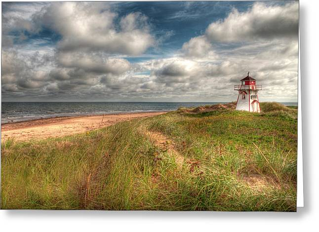 Elisabeth Van Eyken Photographs Greeting Cards - Covehead Lighthouse Greeting Card by Elisabeth Van Eyken