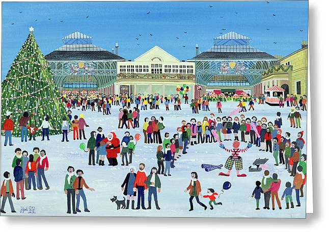 Christmas Art Greeting Cards - Covent Garden  London Greeting Card by Judy Joel