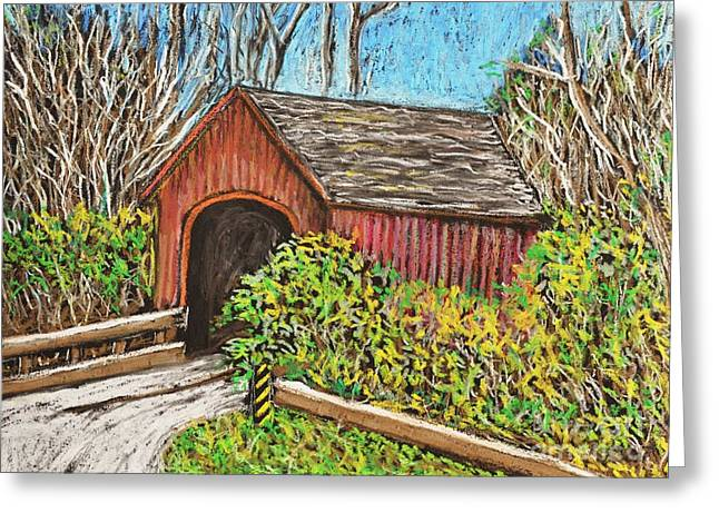 Covered Bridge Greeting Cards - Covered Bridge Greeting Card by Reb Frost