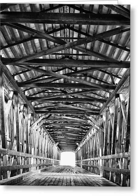 Covered Bridge Interior Knights Ferry Ca Greeting Card by Troy Montemayor
