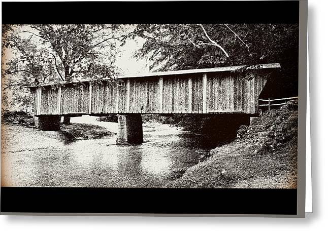 Covered Bridge Greeting Card by Eric Liller