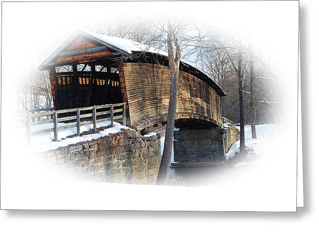 Covered Bridge Greeting Card by Todd Hostetter