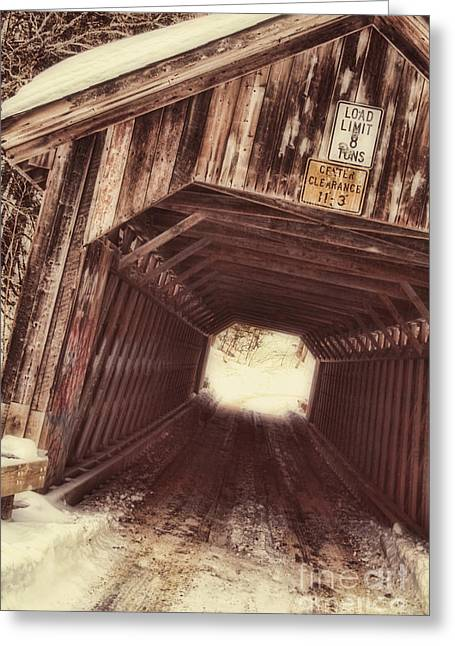 Covered Bridge Vermont Greeting Card by Mindy Sommers