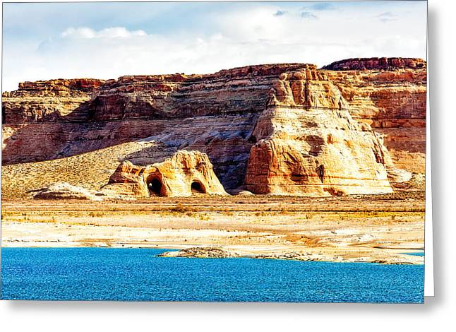 Coves On Shore Of Lake Powell Greeting Card by Susan Schmitz
