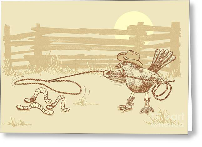 Cowbird Greeting Cards - Cowbird Greeting Card by Laura Brightwood