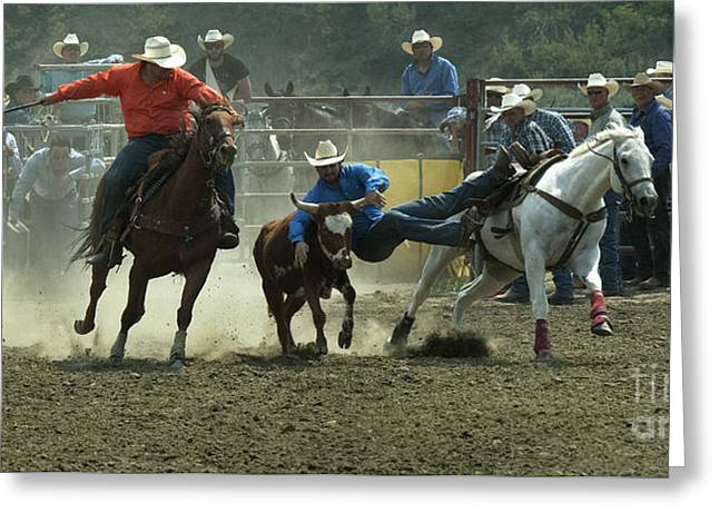 Steer Greeting Cards - Cowboy Art 10 Greeting Card by Bob Christopher