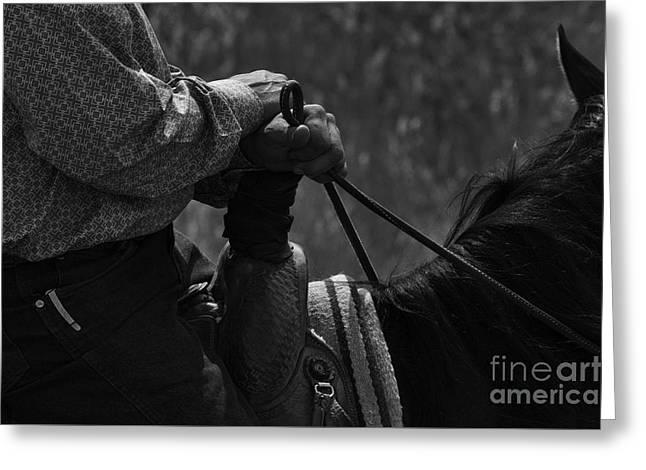 Bucking Horses Greeting Cards - Cowboy Art 19 Greeting Card by Bob Christopher