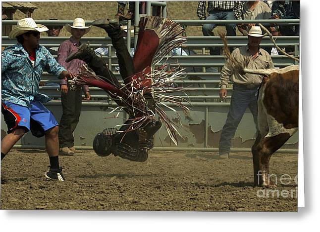 Bull Riding Greeting Cards - Cowboy Art 6 Greeting Card by Bob Christopher