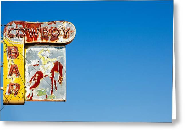 Cowboy Bar Greeting Card by Todd Klassy