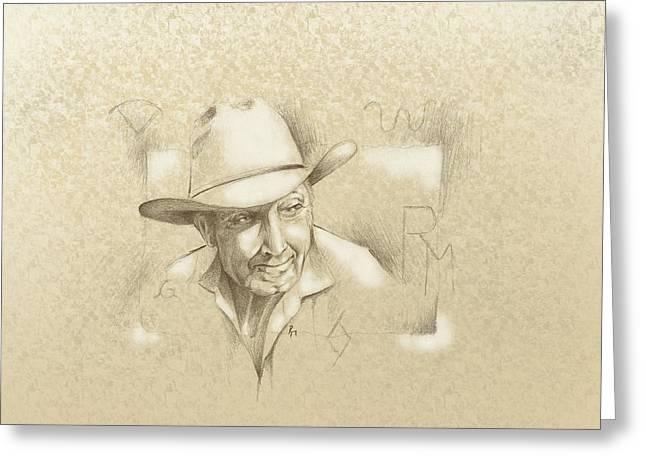 Robert Martinez Greeting Cards - Cowboy Brand Greeting Card by Robert Martinez