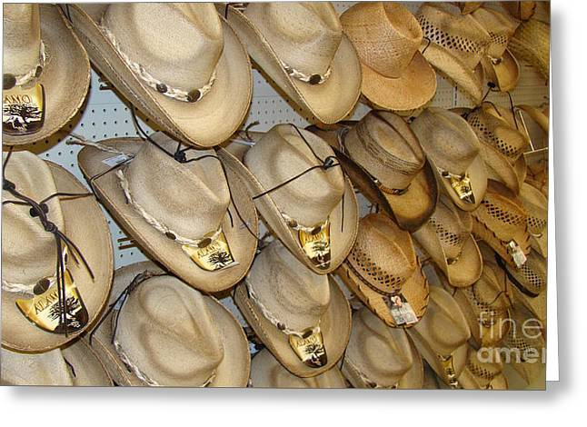Westen Greeting Cards - Cowboy Hats for You Greeting Card by Beverly Guilliams