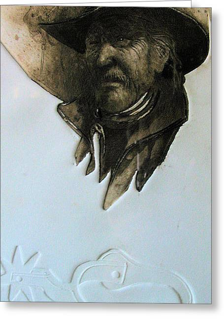 Cowboy Greeting Card by Robert Carver
