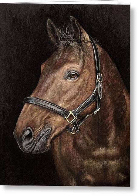 Equine Pastels Pastels Greeting Cards - Cowboy Greeting Card by Tonya Butcher