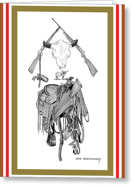 Cowboy Tribute Greeting Card by Jack Pumphrey