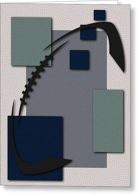 Cowboys Football Art Greeting Card by Joe Hamilton