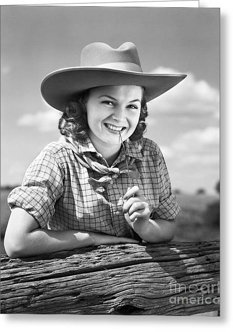 Cowgirl, C.1940s Greeting Card by H. Armstrong Roberts/ClassicStock