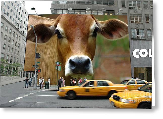 Cowhouse Street Art 02 Greeting Card by Geordie Gardiner
