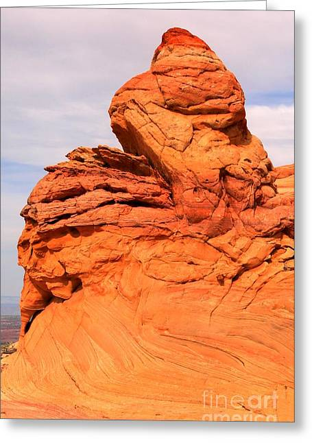 Old Man With Hat Greeting Cards - Coyote Buttes Old Man Winter Greeting Card by Adam Jewell