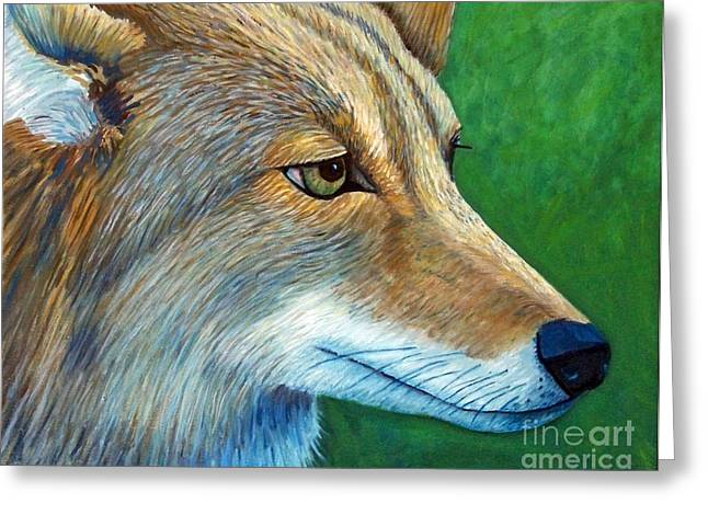 Coyote Logic Greeting Card by Brian  Commerford