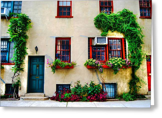 Washington Mews Greeting Cards - Cozy Cottage in Washington Mews Greeting Card by Randy Aveille