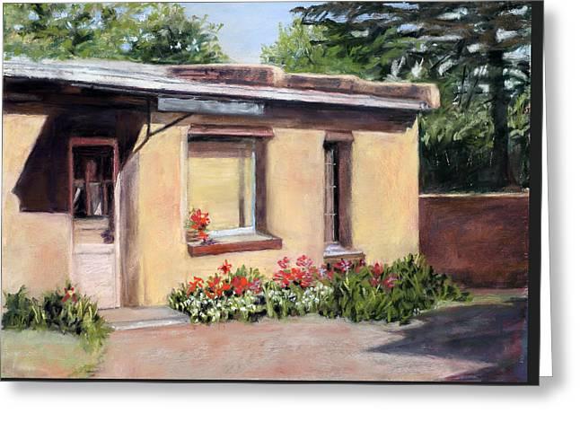 Screen Doors Paintings Greeting Cards - Cozy Home Greeting Card by Julie Maas