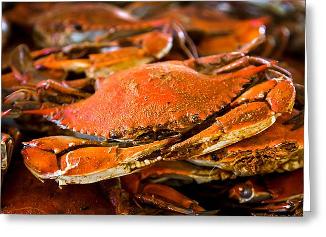 Pinchers Greeting Cards - Crab Boil Greeting Card by Karen Wiles