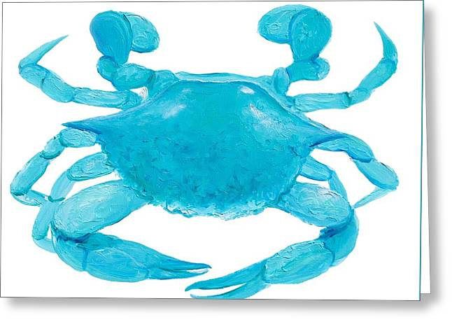 Bathroom Prints Paintings Greeting Cards - Crab Painting Greeting Card by Jan Matson