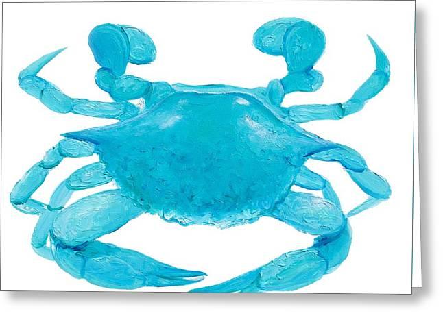 Aquarium Fish Greeting Cards - Crab Painting Greeting Card by Jan Matson
