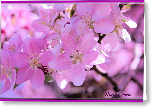 Flower Blossom Greeting Cards - Crabapple Macro Greeting Card by Wendy Fox