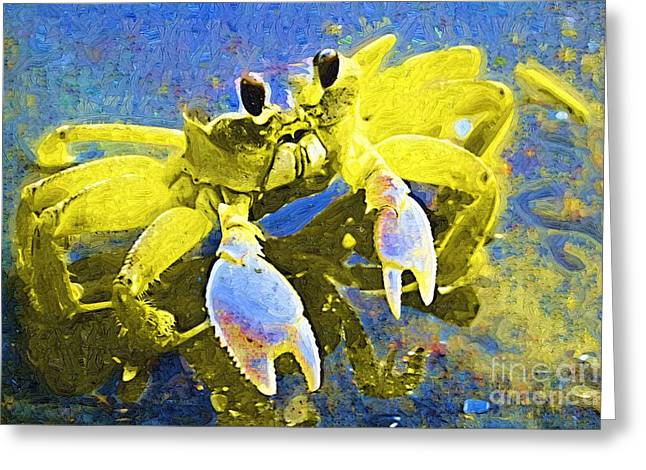 Crab Greeting Cards - Crabby and Cute Greeting Card by Deborah MacQuarrie