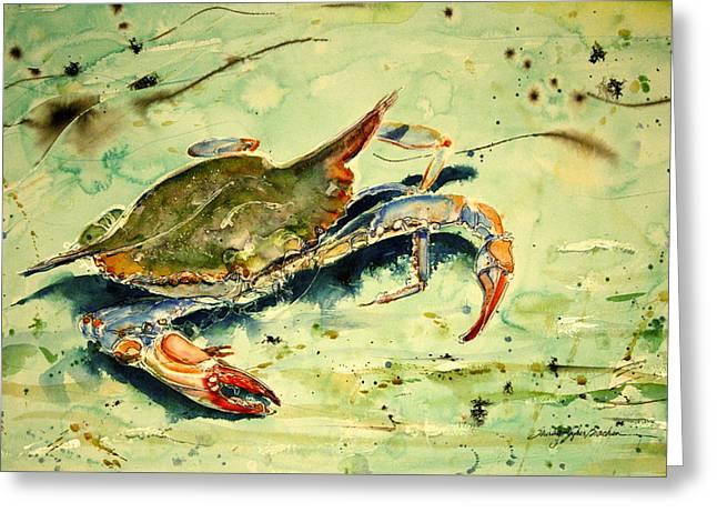 Crabby Appleton Greeting Card by Shirley Sykes Bracken