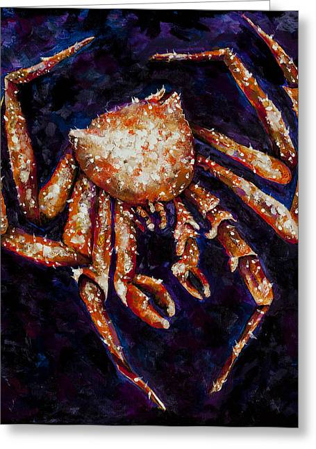 Recently Sold -  - Sea Animals Greeting Cards - Crabby little crab Greeting Card by Sonya Bitz
