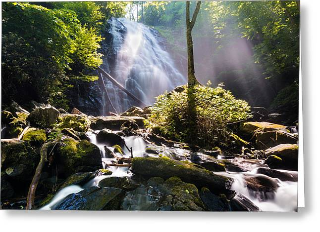 Mystical Landscape Greeting Cards - Crabtree Falls North Carolina Greeting Card by Jeremy Clinard