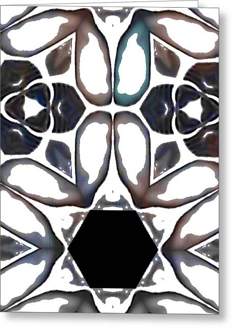 Patterned Greeting Cards - Cracked Ice 3 Greeting Card by Jacquie King