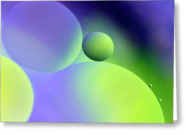 Abstract Globes Greeting Cards - Cradle Greeting Card by Rebecca Cozart