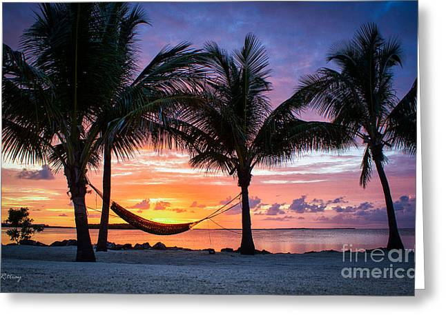 Isla Morada Greeting Cards - Cradling the Sun at Happy Hour Greeting Card by Rene Triay Photography