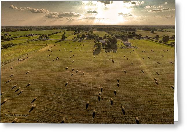 Haybales Greeting Cards - Craigs Fields Greeting Card by Jack Johnson