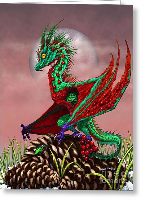 Cranberry Dragon Greeting Card by Stanley Morrison