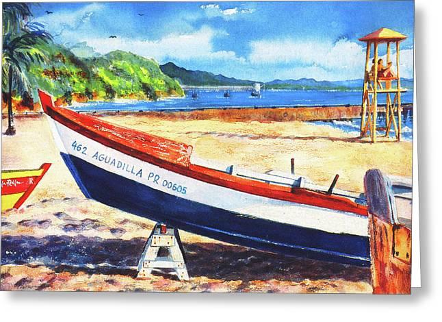Crash Boat Beach Greeting Card by Estela Robles