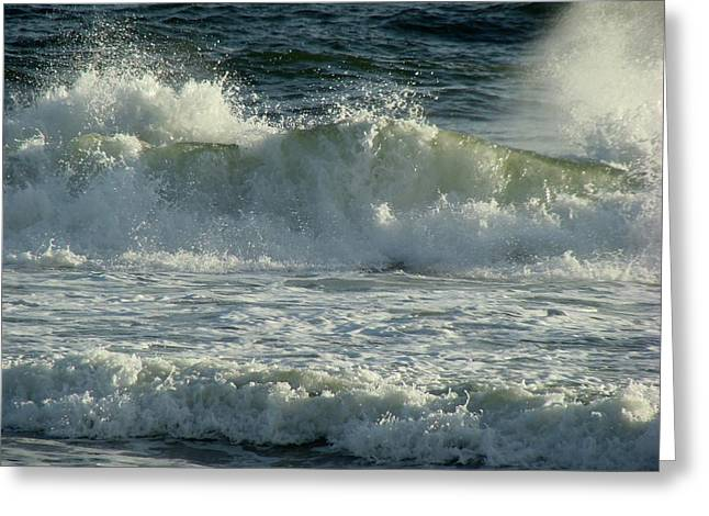 Panama City Beach Fl Greeting Cards - Crashing Wave Greeting Card by Sandy Keeton